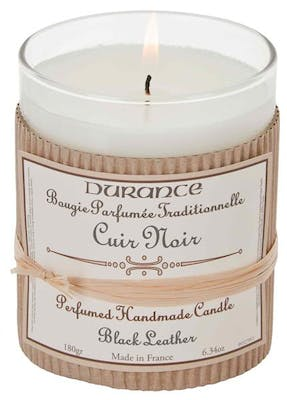Durance Handcraft Candle Black Leather