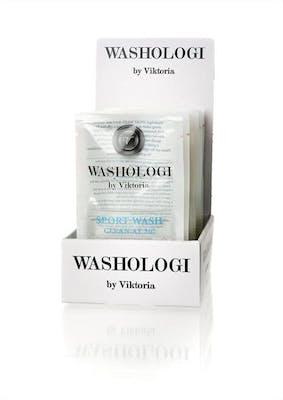 Sporttvätt engångsförpackning, washologi