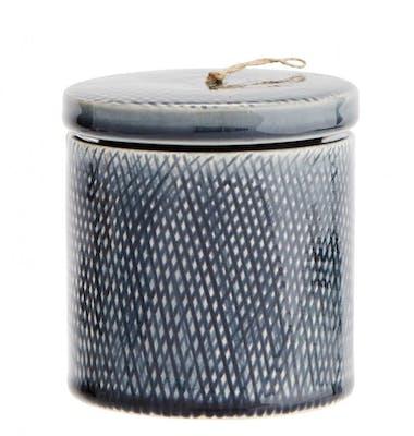 Blå burk av Keramik - Madam Stoltz
