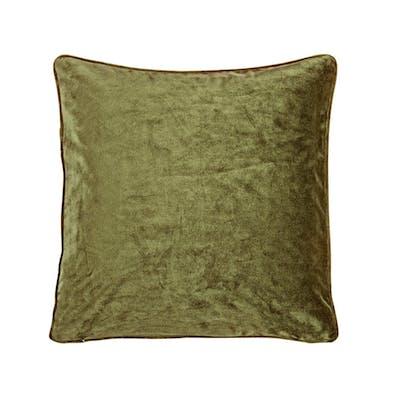 Velvet Kuddfodral - Olivgrön 45x45