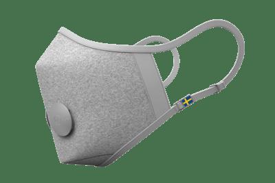 airinum munskydd i tyg grå