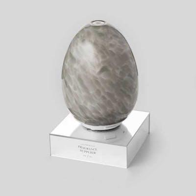 Spegelfot marmor grå