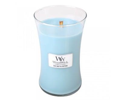 WoodWick Sea Salt & Cotton – Large