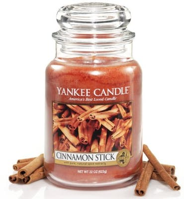 yankee candle cinnamon stick large